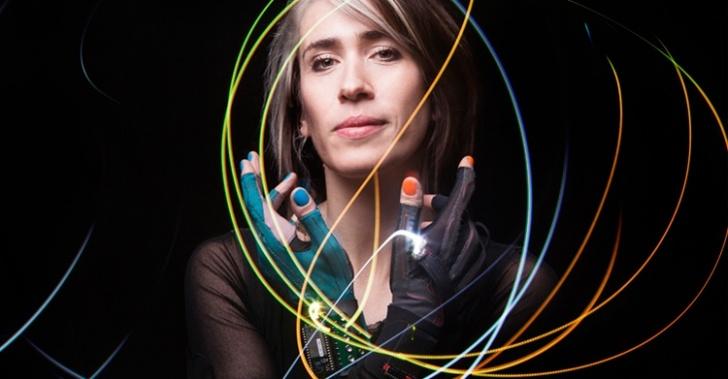 tecnología, guantes, música