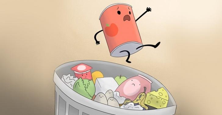 comida vencida, caducidad, supermercados, alimentos, rotulación, desperdicio, mercado, consumo