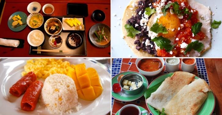 comida, desayunos, costumbres, mundo, cultura