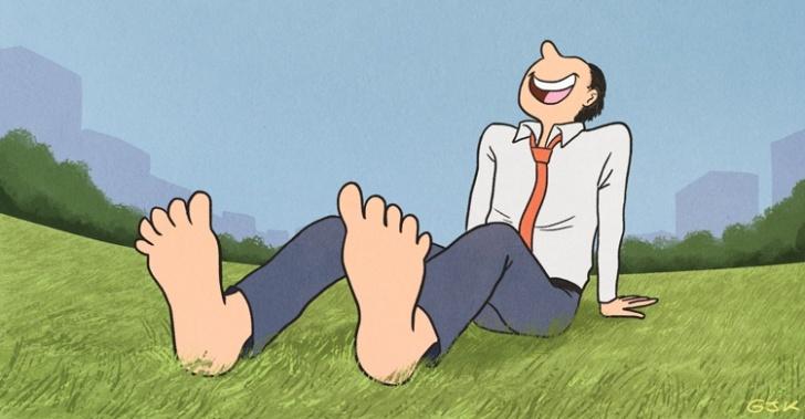 Felicidad, risa, relajo, estrés