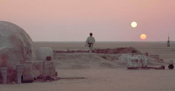 cine, lugares, ficción, realidad, star wars