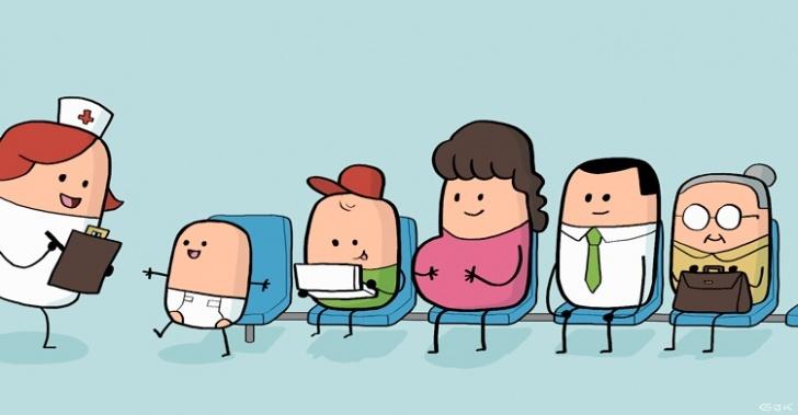 Exámenes de Medicina Preventiva (EMP), edad, tratamiento, test, hombre, mujer, embarazada, niños, recién nacidos