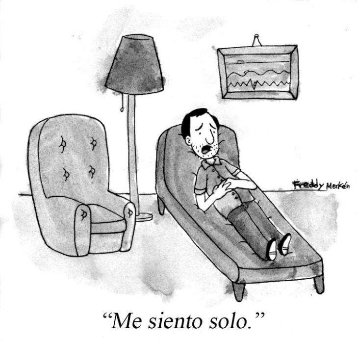 psicología, consulta, soledad