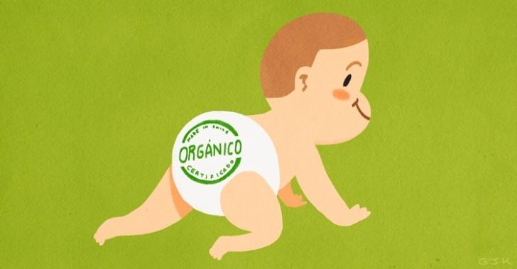 Bebés, orgánicos, productos, guaguas, pañales, crema, comida, colados, ropa, Chile, mercado, sustentable