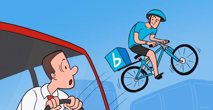 Reparto a domicilio, Delivery, medio ambiente, bicicletas