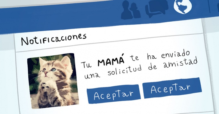 Redes sociales, Mamás, madres, twitter, facebook, whatsapp