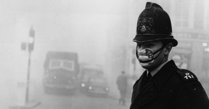 esmog, smog, contaminación, Inglaterra, medio ambiente, salud, historia