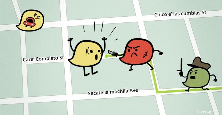 Waze, CityCop, app, delincuencia, robos, crimen, Chile, Uruguay