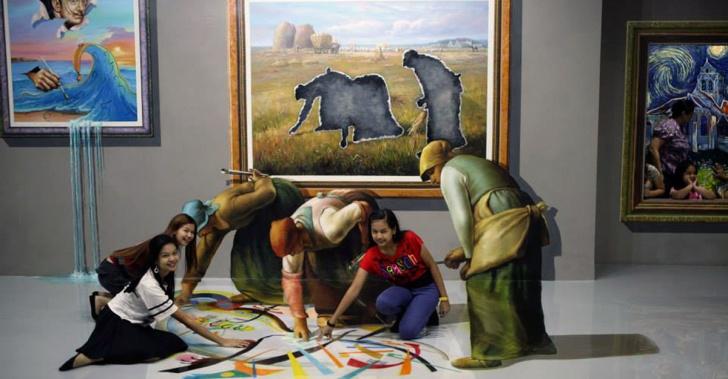 museos, 3D, Art in Island, Trick Eye, perspectiva, ilusión óptica, fotografía, arte, pintura, entretención