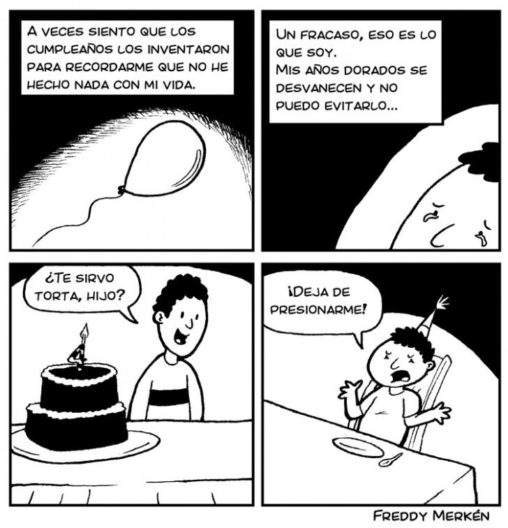 Cumpleaños, Padre, Hijo, Existencialismo, Depresión, Fiesta