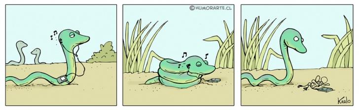 Música, Audífonos, Serpiente