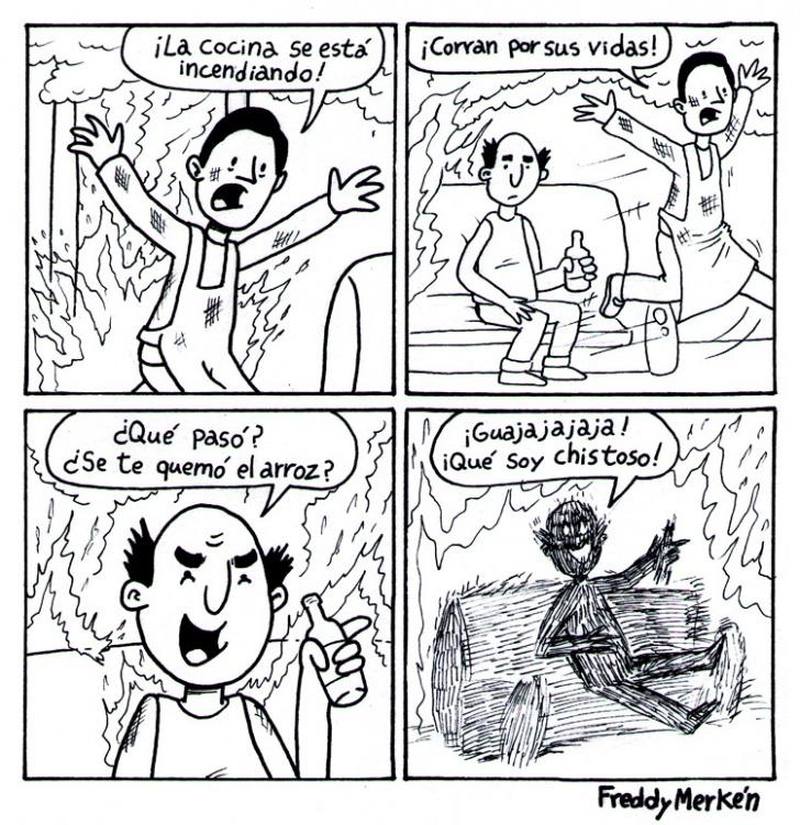 Incendio, Fuego, Cocina, Arroz, Chistoso