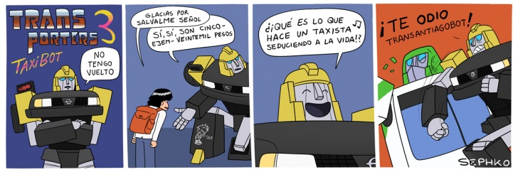 transporte, ciudad, santiago, transantiago, taxi, auto, robot, series, 80s, dibujos animados