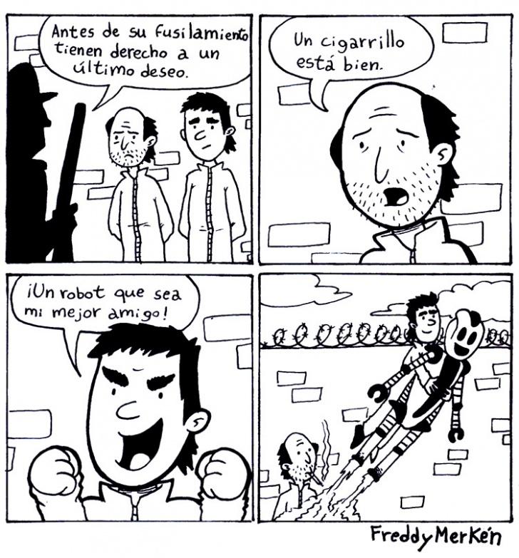 Fusilamiento, Deseo, Último, Muerte, Robot, Amigo