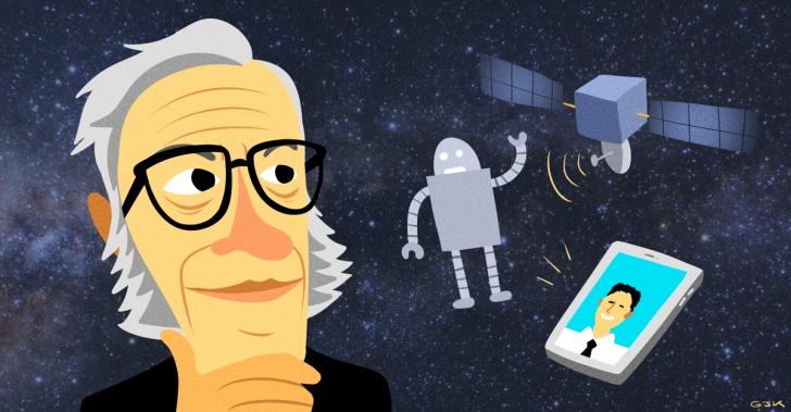 Isaac Asimov, predicciones, 1964, 2014, robot, tecnología, comida, electrónica, futuro, visionario