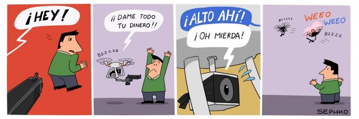 delincuencia, drones, futuro, tecnología, policía, crimen