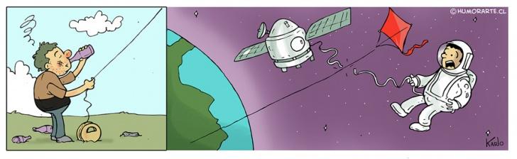 volantines, Hilo curado, Astronautas, cometas, borrachos, ebrios, alcohol, fiestas patrias, 18 de septiembre