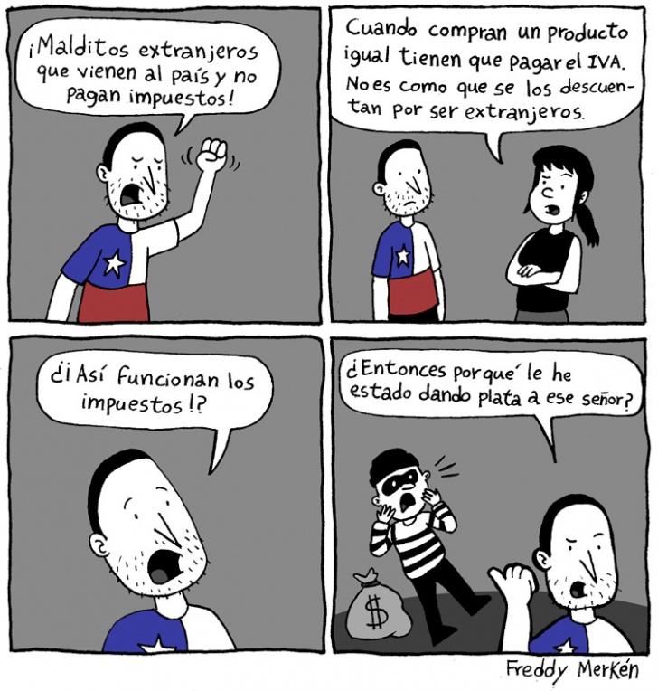 Extranjeros, Impuestos, IVA, Inmigración, Ladrón