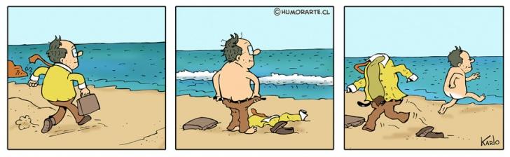 Libertad, ropa, playa