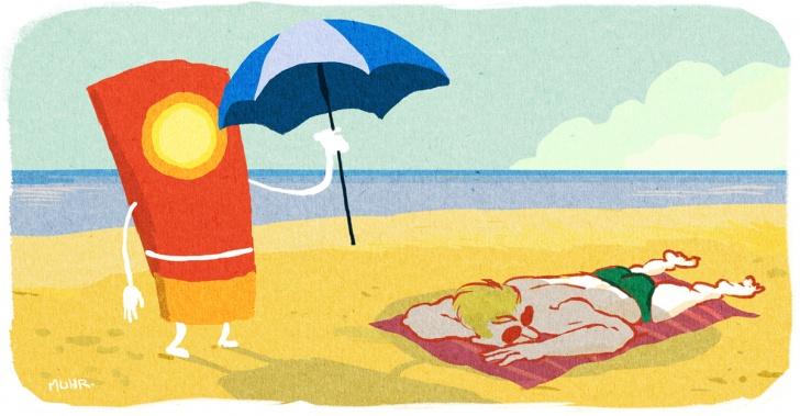 bloqueador solar, sol, playa, vacaciones, protección, cáncer, piel, rayos UV, tecnología, innovación, ciencia