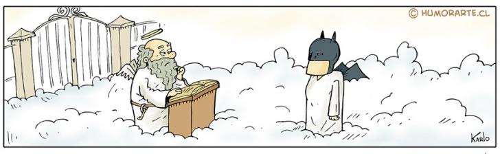 San Pedro, Cielo, Capa, Batman, muertos