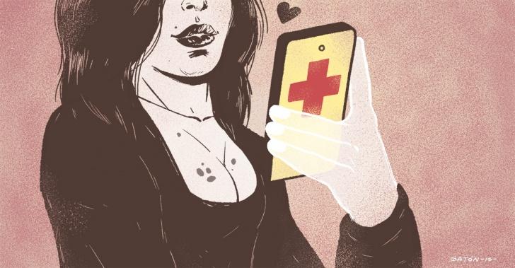 app, salud, cáncer, tecnología, celular, selfie