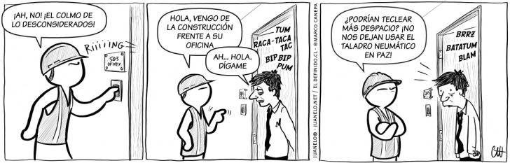 construcciones, ruido, obreros, trabajo, oficinas, molestias