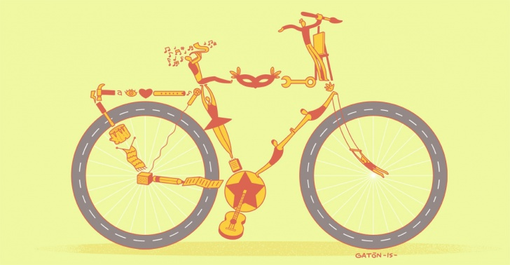 arte, bicicletas, ciclismo, televisión, cultura, La Bicicleta