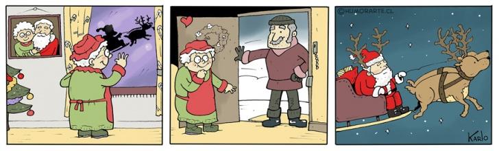 Navidad, Santa Claus, Cuernos