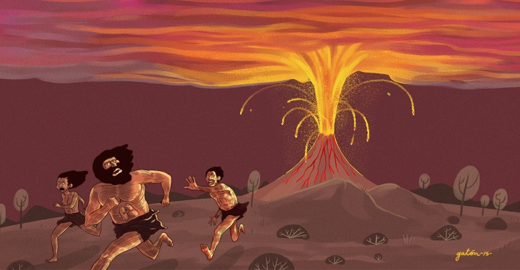 volcanes, Toba, historia, humanidad, erupciones, catástrofes, desastres