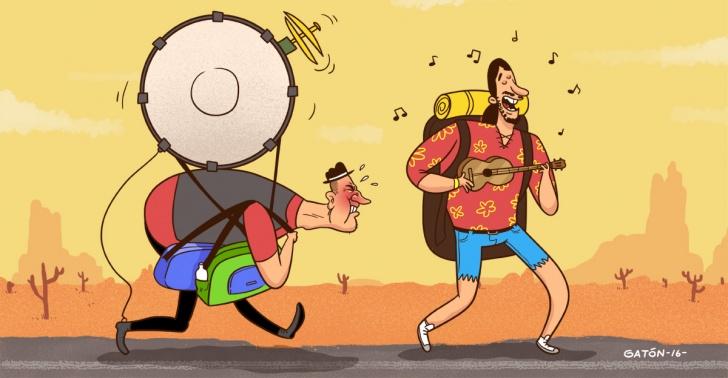 música, instrumentos, viajes, fogatas, mochileros, mochileo, ukelele, saxo de bolsillo
