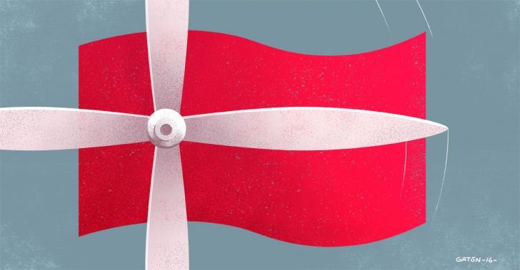 energía eólica, Dinamarca, turbinas, ecología, renovable, récord