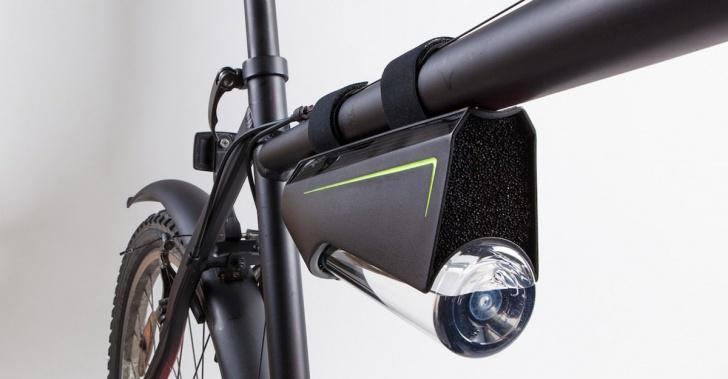 inventos, tecnología, innovación, botellas, agua, condensación, aire, bicicletas, ciclistas, Fontus