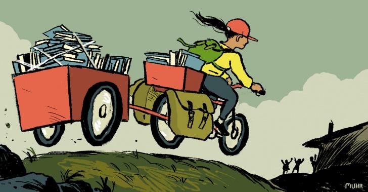 bibliotecas, niños, estudiar, aprendizaje, bicicletas, lectura, chile