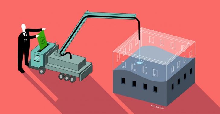 hormigón, construccion, emprendimiento, cumplo, bancos, edificios, servicios