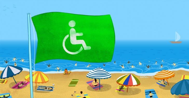 playas inclusivas, balnearios, discapacidad, mar, vacaciones