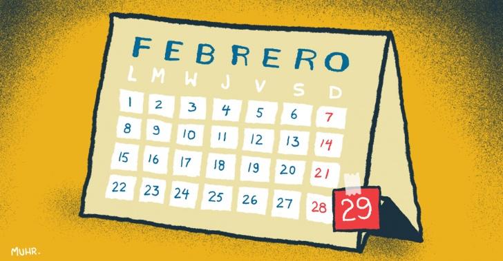 febrero, año bisiesto, calendario, estaciones, meses, días, año