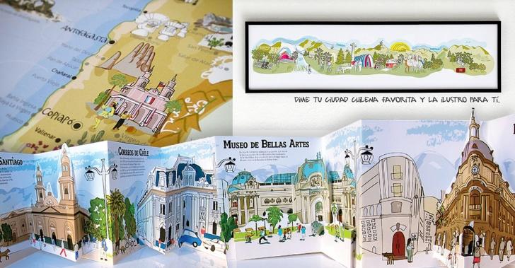 Souvenirs, Chile, recuerdos, viajes, ilustraciones, producto nacional