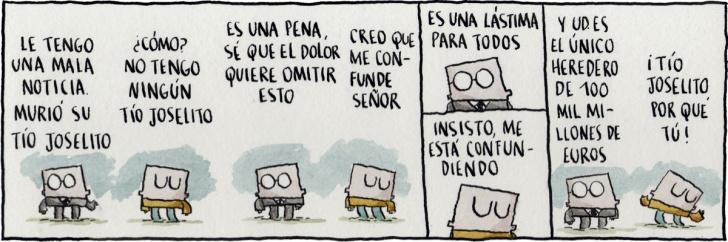 Familia, Muerte, Abogado, Herencia, Comic, Dinero