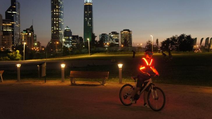 mochila, bicicletas, seguridad, ciclistas