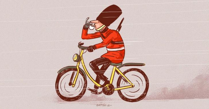 Londres, bicicletas, cultura, autos, centro, Europa, ejemplos