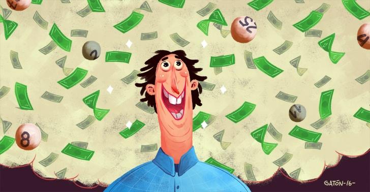 Psicología, comportamiento, lotería, azar, probabilidad, cara, sello