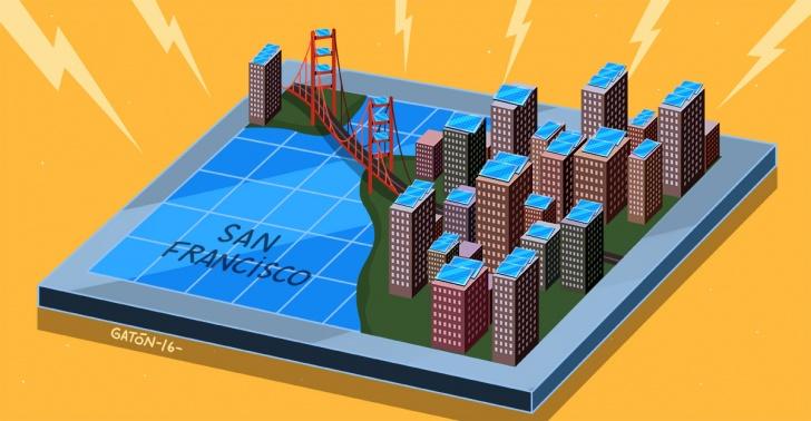 energía solar, sustentabilidad, paneles solares, energía, San Francisco