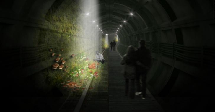 bajo, tierra, subterráneo, mundo, idea, solución, M30, aqualine, montreal, londres