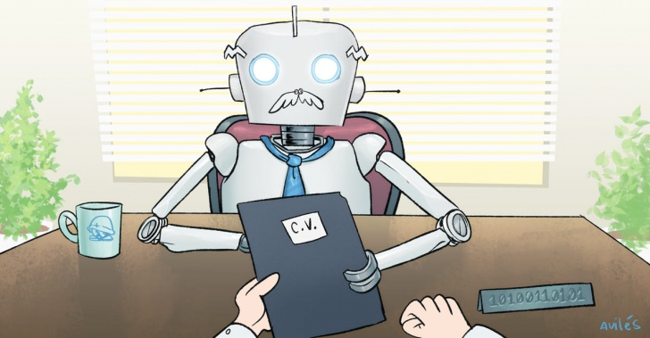 robot, tecnología, trabajo, entrevista laboral, inteligencia artificial, Aira