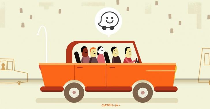 waze, carpool, app, tecnología, autos, congestión, vehicular