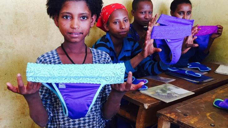 África, diseño, problema, niñas, menstruación, solución