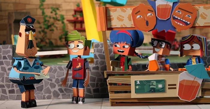 puerto, papel, serie, tvn, infantil, televisión, animación, chile