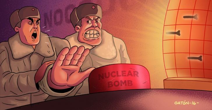 guerra, ataque nuclear, tensión, ataque, URSS, EE.UU., Rusia, militar