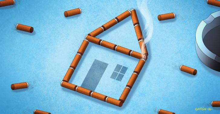 tabaco, cigarro, cigarrillo, colillas, desechos, residuos, contaminación, construcción, ladrillos, ciencia